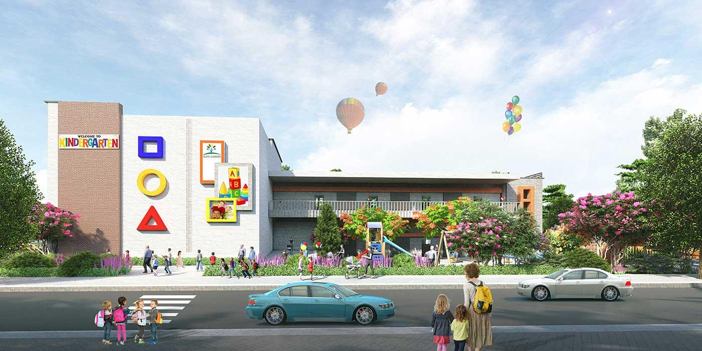 Trường mầm non tại dự án Vạn Phát Sông Hậu