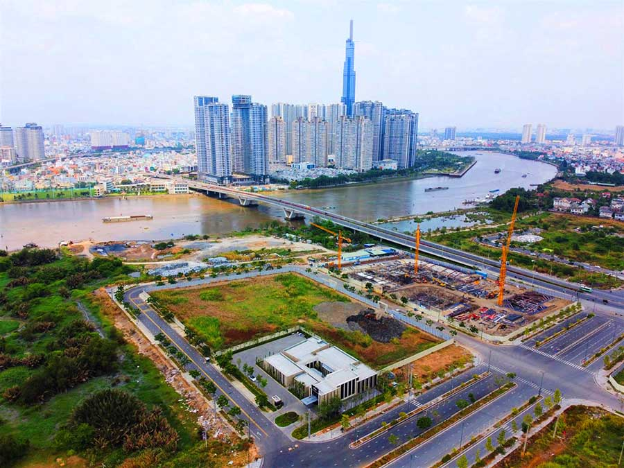 View dự án The River Thủ Thiêm về Bình Thạnh