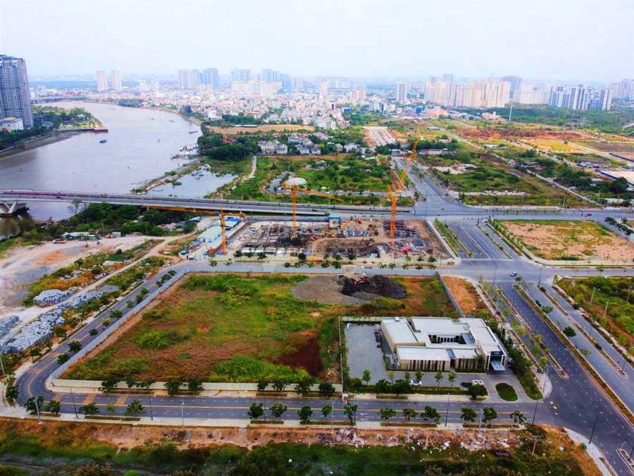 Tiến độ căn hộ The River Thủ Thiêm tháng 04/2020