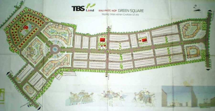 Thiết kế tổng thể dự án Green Square
