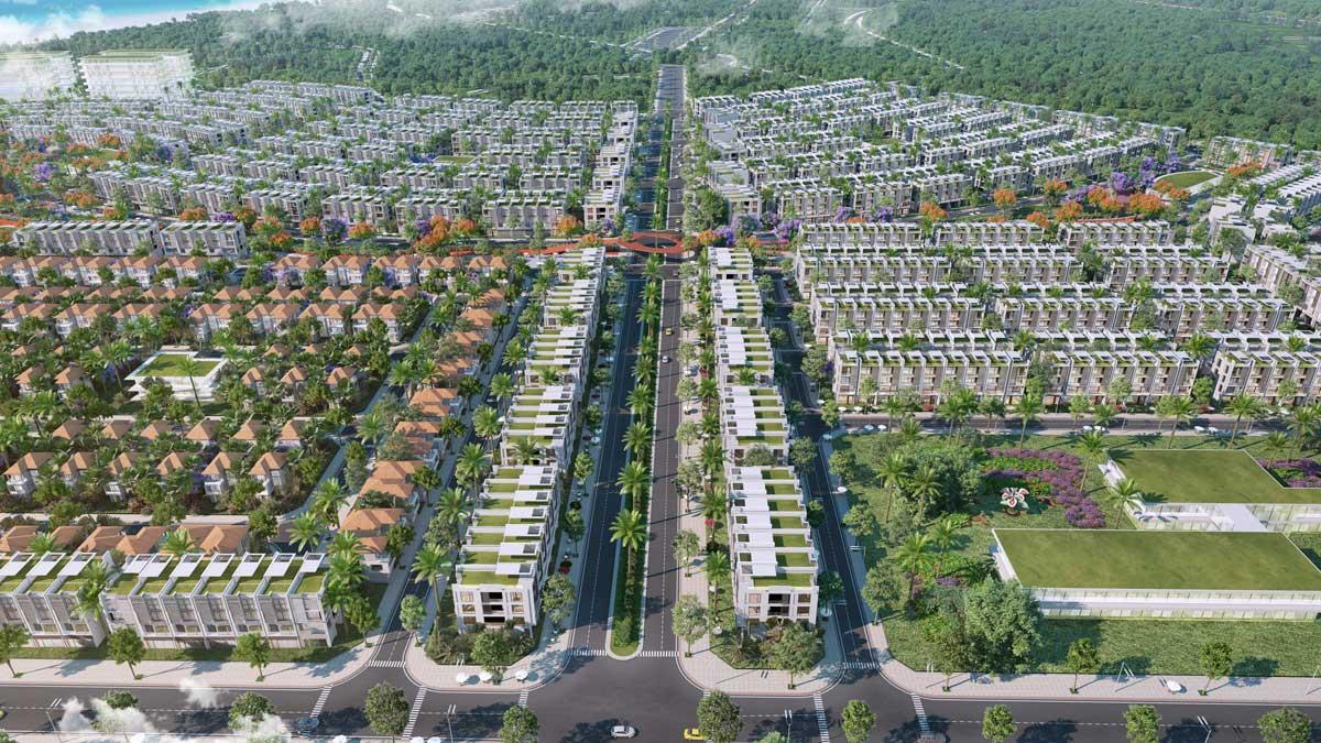 Phối cảnh trục đường chính dự án Meyhomes
