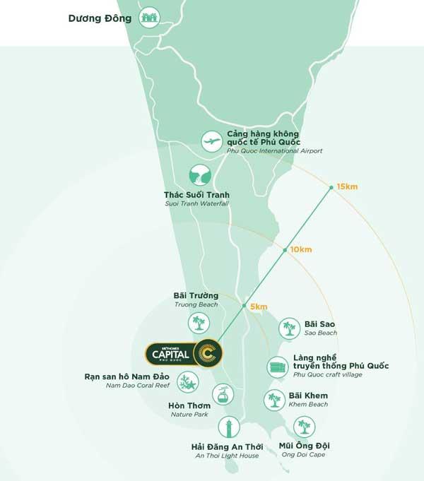 Vị trí dự án Meyhomes Capital Phú Quốc