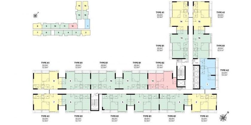 Mặt bằng căn hộ CitiAlto block B