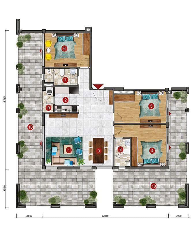 Thiết kế căn hộ Skyvilla tại ST Moritz