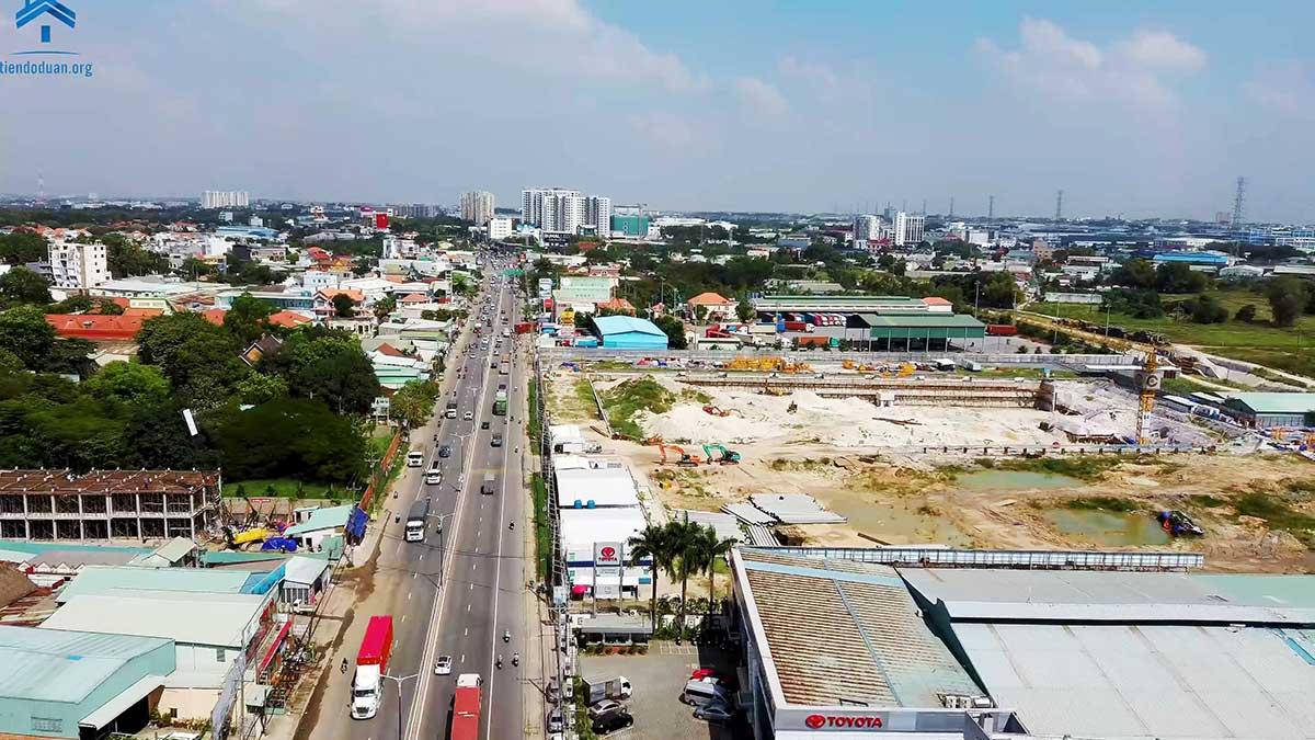 Tuyến đường quốc lộ 13 - mặt tiền dự án Astral City